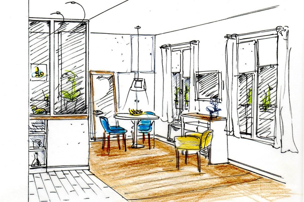 R novation studio apparthotel paris xviii rn architecture for Studio appart hotel paris