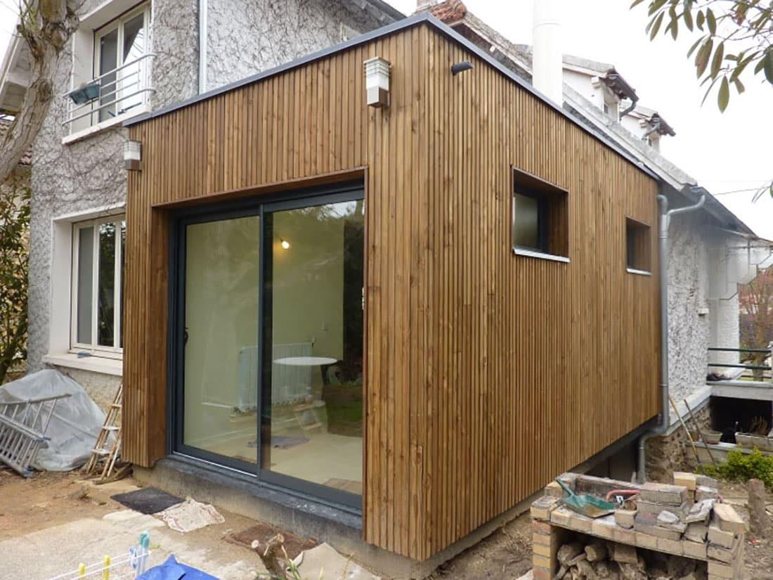 Extension bois dourdan rn architecture for Extension maison ossature bois prix