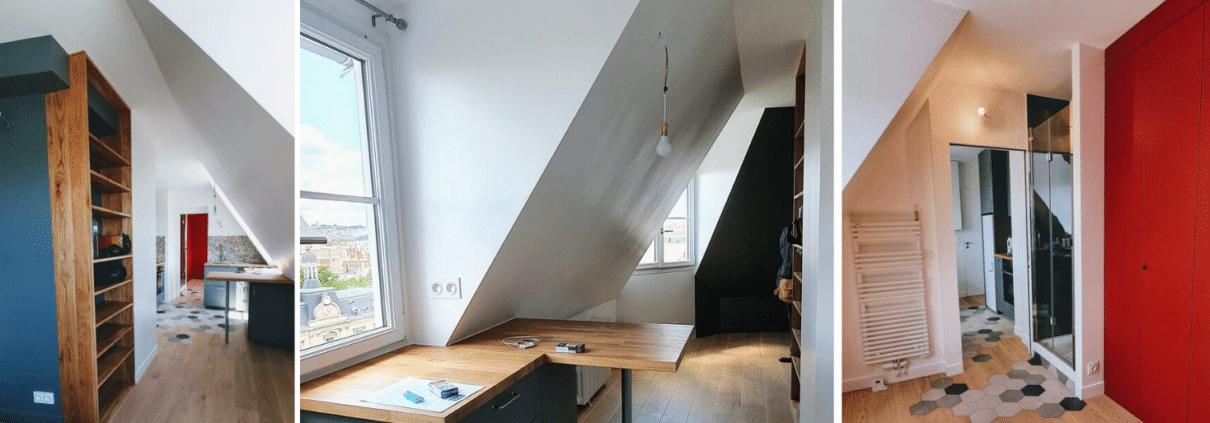 Rénovation de studio sous les combles