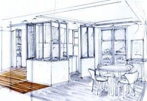 Rénovation appartement 75010 Esquisse