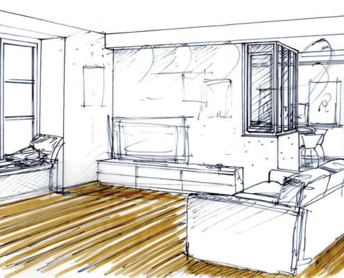 Rénovation appartement 75010 Croquis